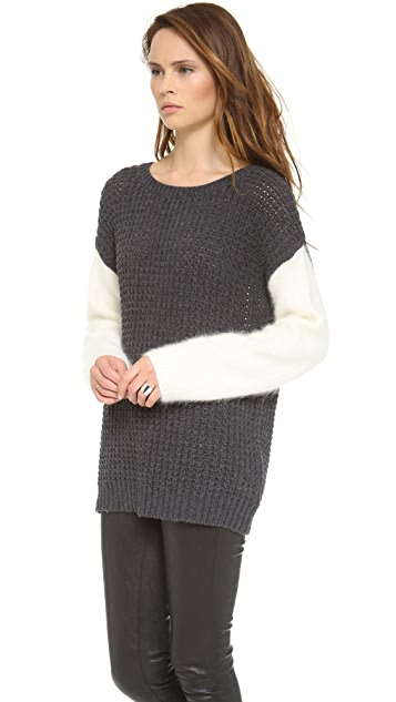 SHAE Colorblock Oversized Sweater