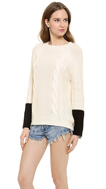 SHAE Cable Knit Cashmere Sweater