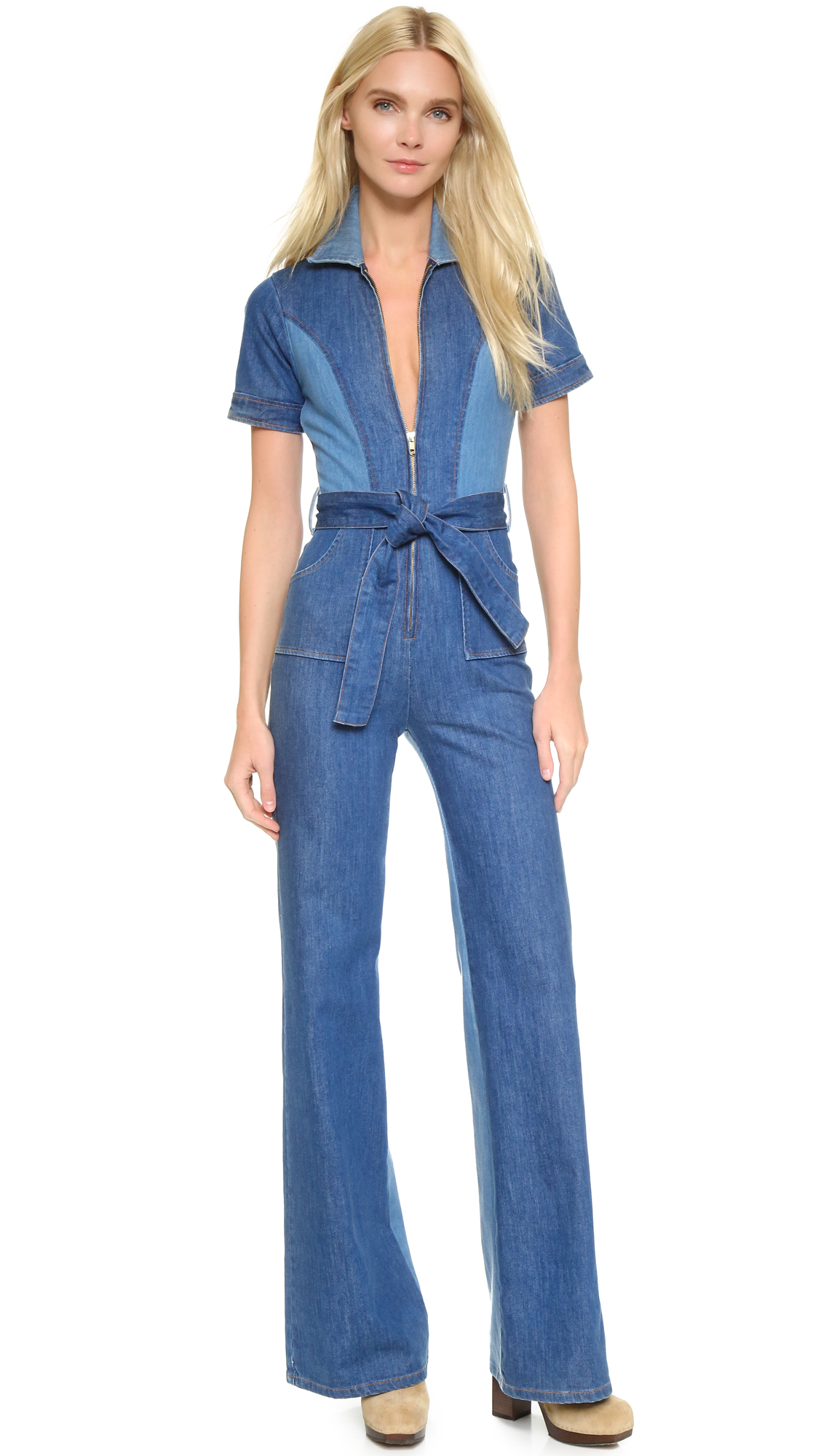 509f264c Stoned Immaculate Blue Jean Baby Jumpsuit | SHOPBOP