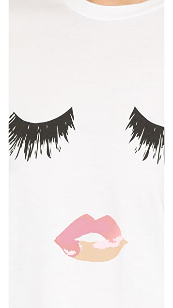 Sincerely Jules Lips & Lashes Tee
