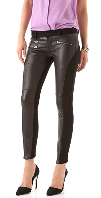 Siwy Mick Leather Skinny Jeans | SHOPBOP