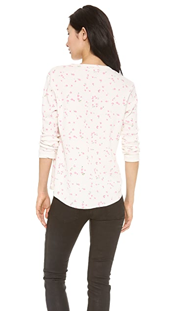 6397 Floral Thermal Top