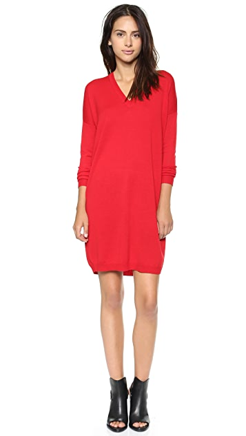 6397 V Neck Sweater Dress