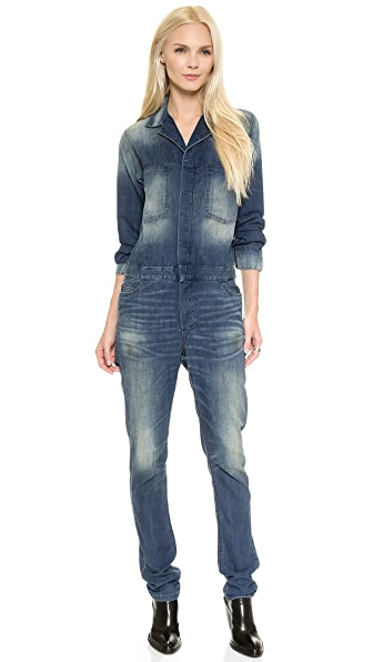 6397 Denim Jumpsuit - Dirty Faded