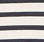 Navy Stripe on White