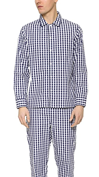 Sleepy Jones Gingham Henry Pajama Shirt