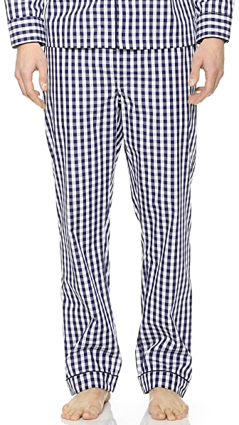 Sleepy Jones Gingham Marcel Pajama Pants