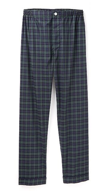 Sleepy Jones Black Watch Marcel Pajama Pants