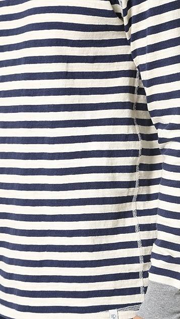 Sleepy Jones Keith Rugby Stripe Thermal Shirt
