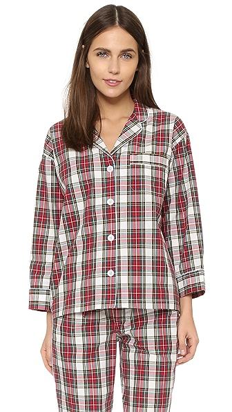 Sleepy Jones Marina Plaid Pajama Shirt