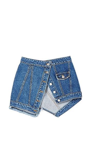 SJYP Denim Peplum Belt / Skirt