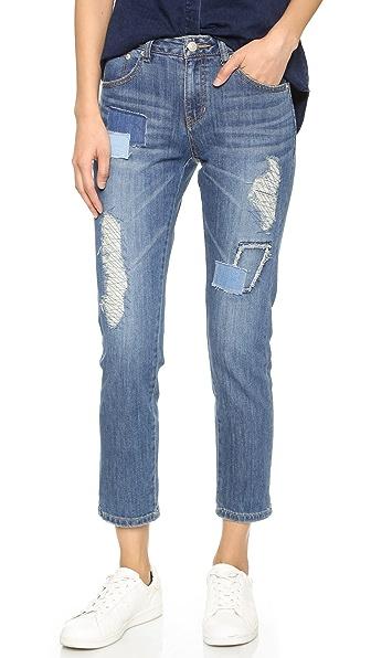 SJYP Destroyed Straight Leg Jeans | SHOPBOP
