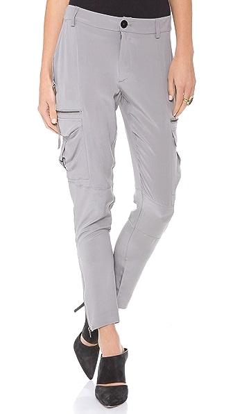 Skaist Taylor Washed Silk Cargo Pants