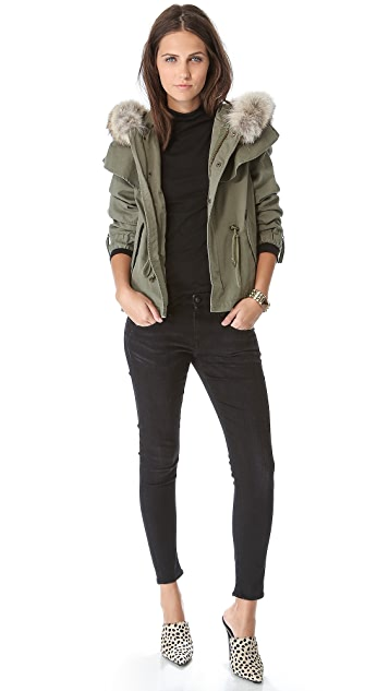 Skaist Taylor Cropped Cape Jacket