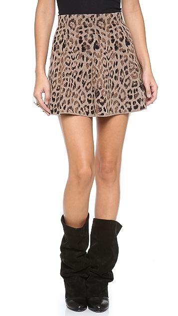Skaist Taylor Leopard Knit Miniskirt