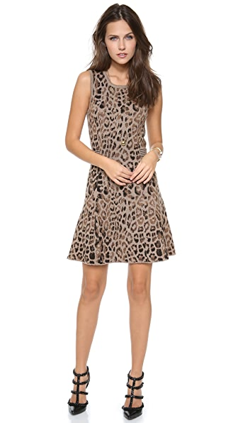 Skaist Taylor Leopard Cutout Dress