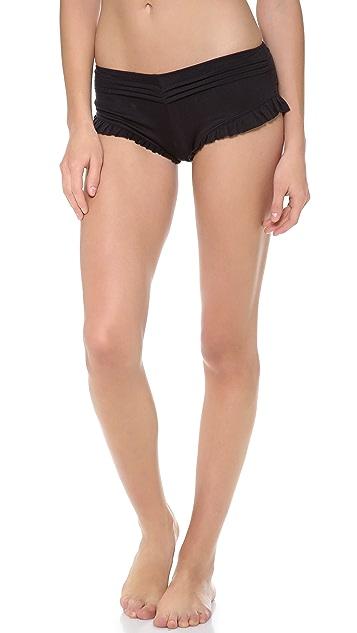 Skin Pleated Shorty Panties