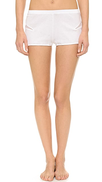 Skin Waves Rib Tulle Shorts
