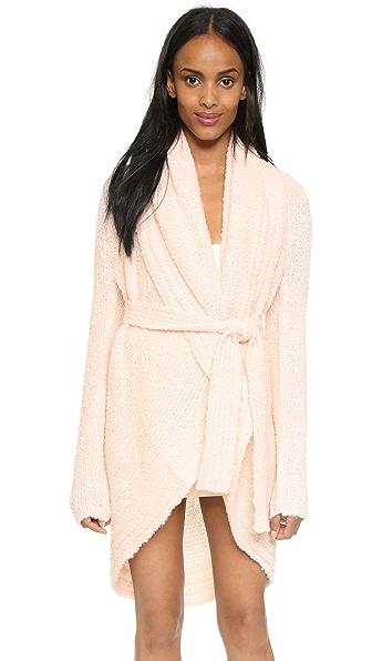 Skin Boucle Wrap Robe