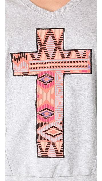 Sleep'n Round Cross Long Sleeve Top