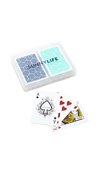 SunnyLife Lennox Waterproof Playing Cards Set of 2