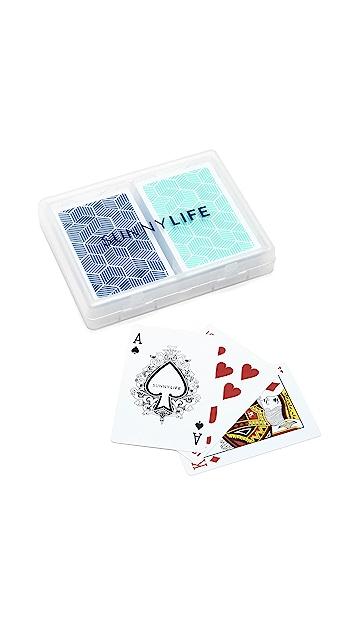 SunnyLife Lennox Waterproof Playing Cards Set of 2