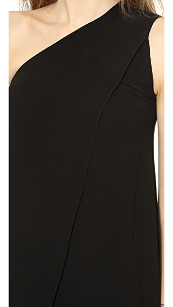Solace London Bourdan One Shoulder Maxi Dress