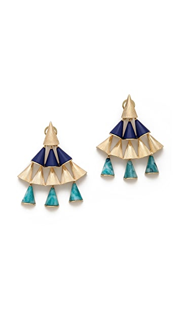 Sarah Magid Lazuli Cone Chandelier Earrings