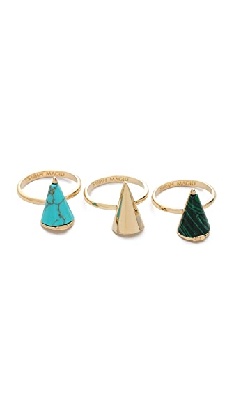 Sarah Magid Mini Reconsituted Cone Rings