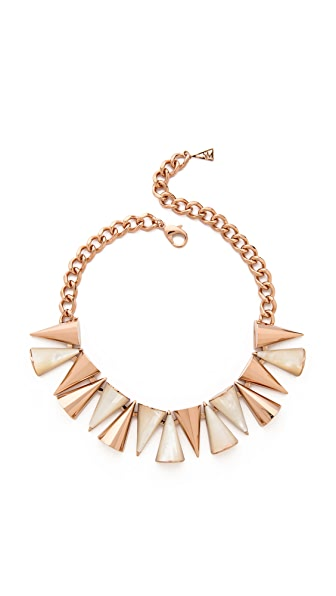 Sarah Magid Large Mother of Pearl Cone Necklace