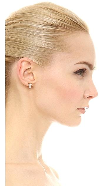 Sarah Magid Mini Mother of Pearl Cone Stud Earrings