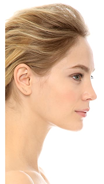 SMITH+MARA Pave Diamond Zigzag Ear Crawler