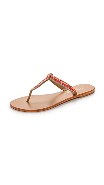 Star Mela Tabby Beaded Thong Sandals