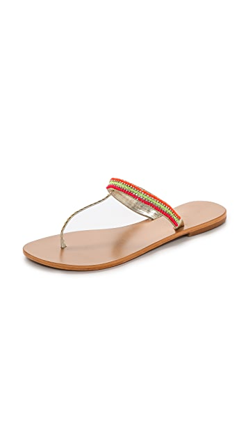 Star Mela Lovi Beaded Thong Sandals