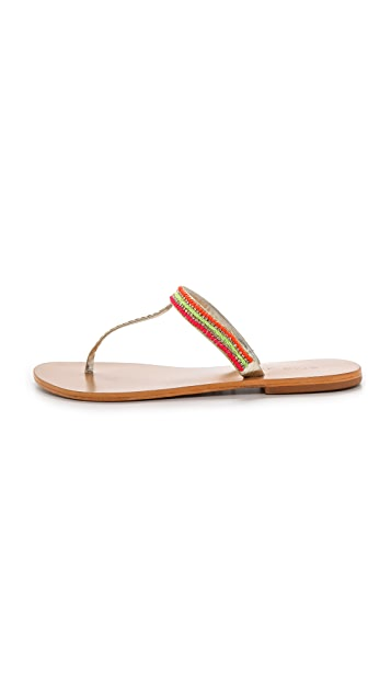 Star Mela Lovi Beaded Thong Sandals