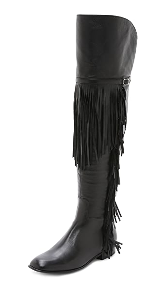 Sigerson Morrison Effie Fringe Over the Knee Boots
