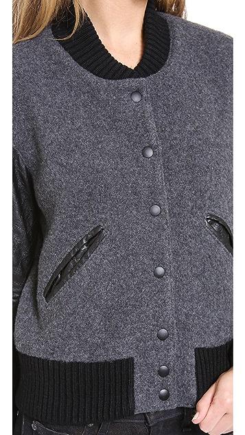 SMYTHE Varsity Bomber Jacket