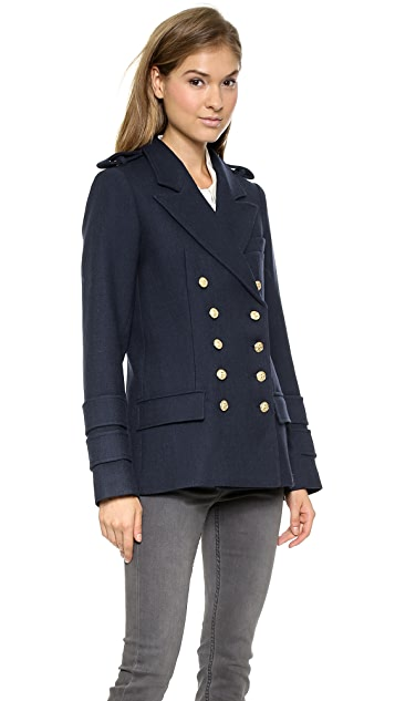 SMYTHE Military Pea Coat