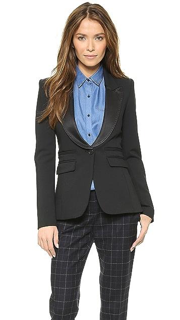 SMYTHE Peaked Lapel Tuxedo Blazer