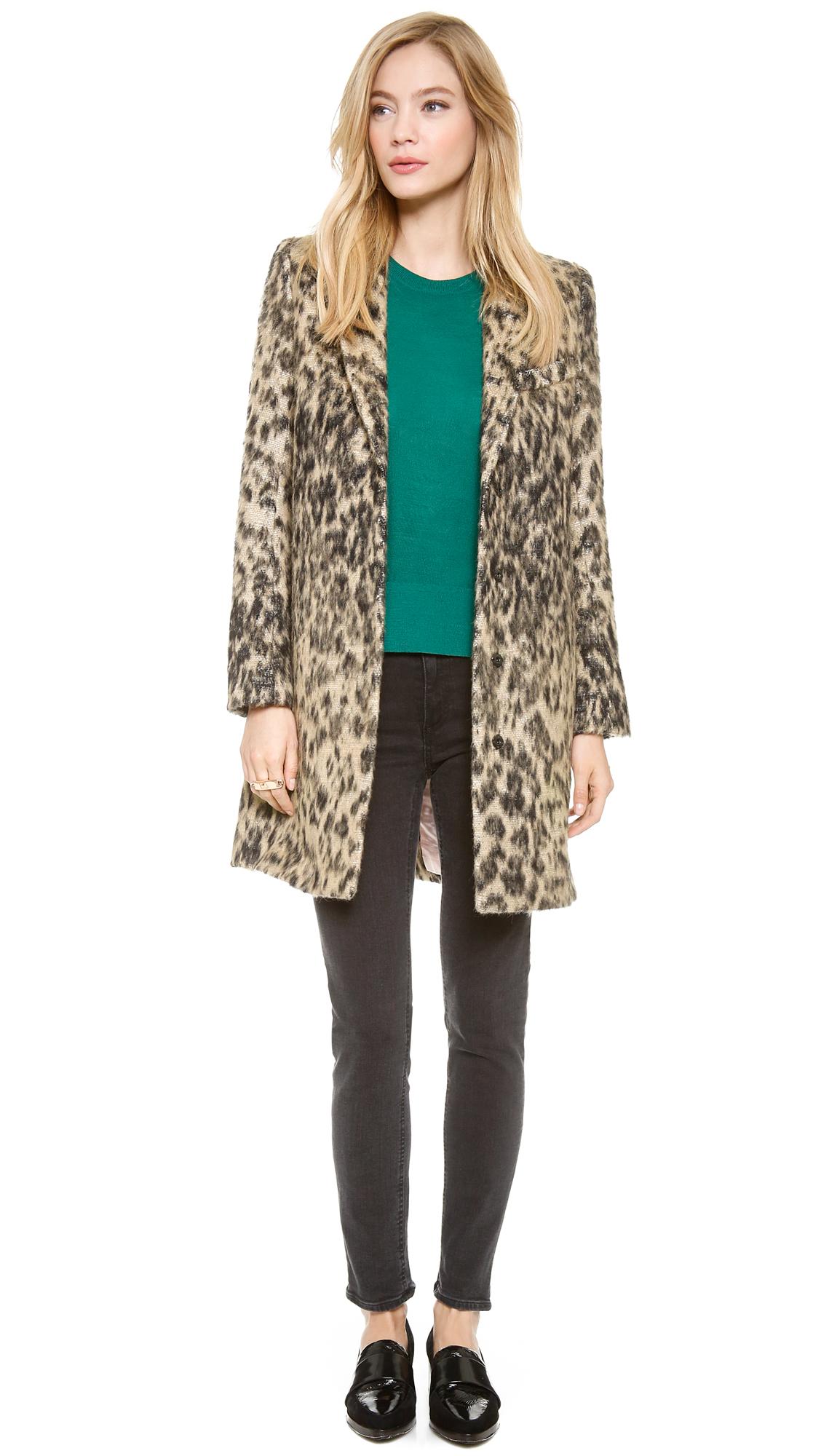 c55353b6ae89 SMYTHE Leopard Lab Coat | SHOPBOP