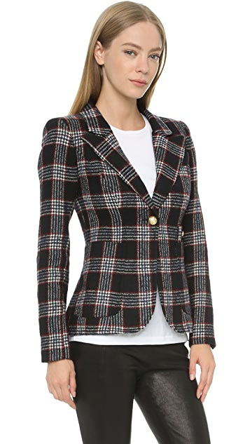 SMYTHE Plaid Duchess Blazer