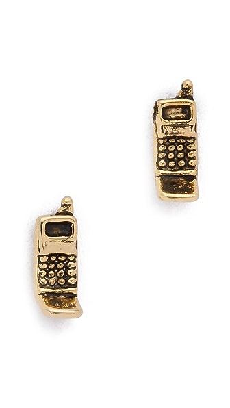 SNASH JEWELRY '90s Flip Phone Earrings