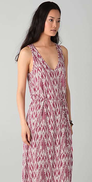 Soft Joie Emilia Ikat Zigzag Maxi Dress