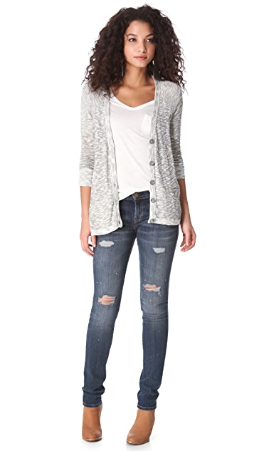 Soft Joie Ambra Metallic Cardigan Sweater