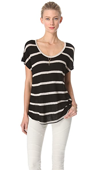 Soft Joie Crimson Stripe Top