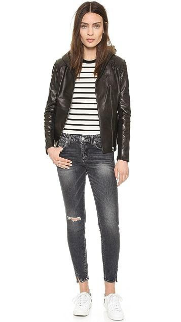 Soia & Kyo Beka Leather Hooded Jacket