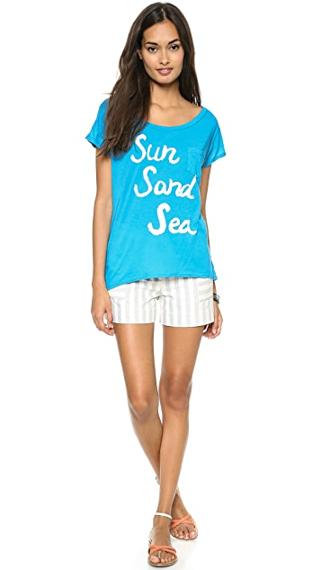 Sol Angeles Sun Sand Sea Pocket Tee