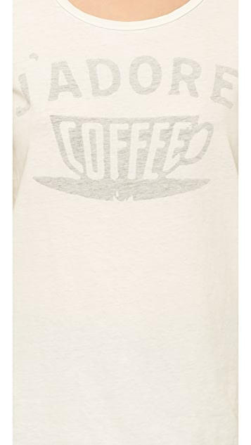 Sol Angeles Jadore Coffee Crew Tee