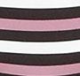 Cream/Dusty Rose Tri Stripe