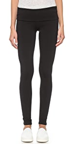 Jersey Long Fold Over Leggings                SOLOW